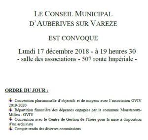 Réunion conseil municipal @ Salle associative