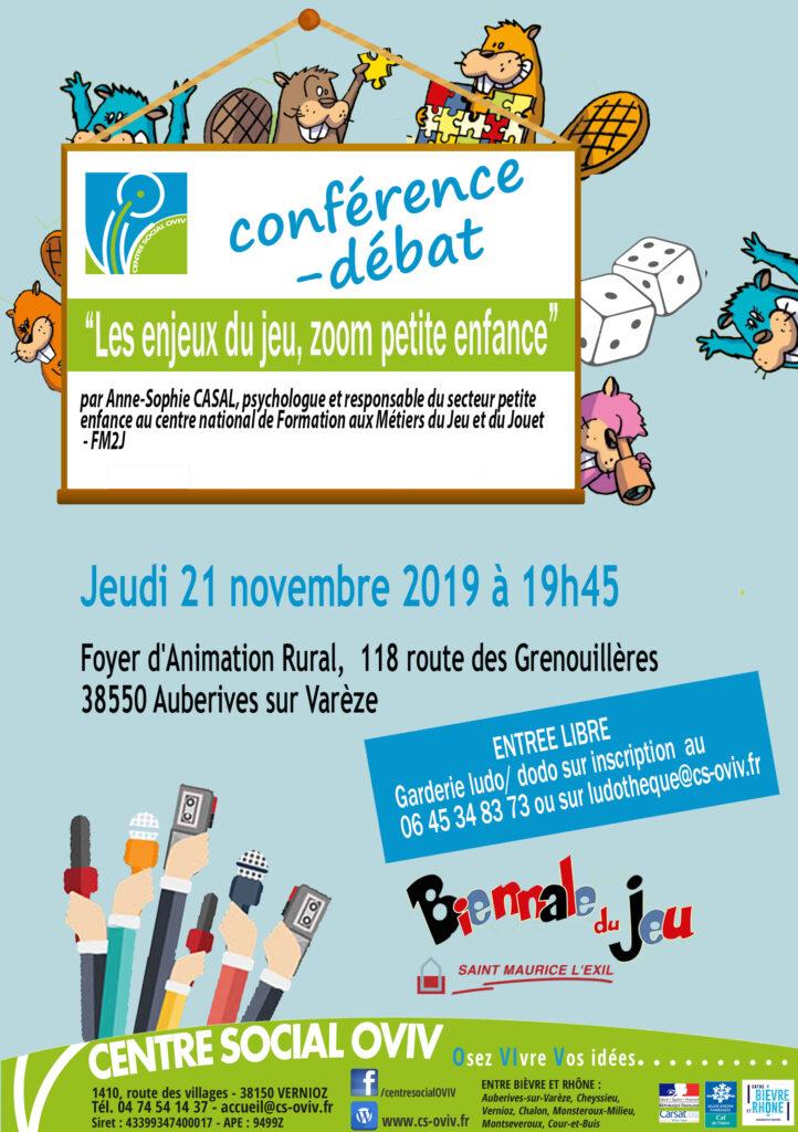 conférence - débat LES ENJEUX DU JEU @ Foyer d'animation rurale